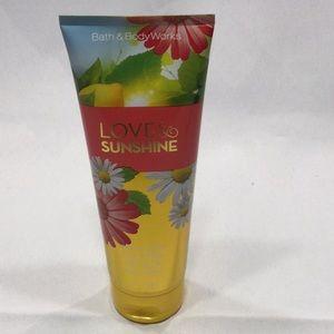 Bath and Body Works LOVE & Sunshine body cream.